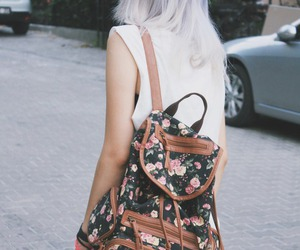 bag, hairstyle, and jean image