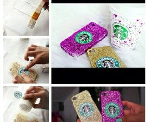diy, starbucks, and case image