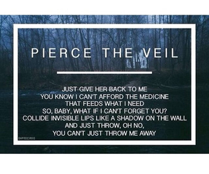 band, Lyrics, and pierce the veil image