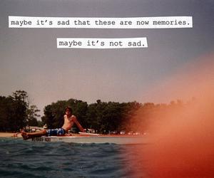 memories, text, and sad image