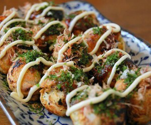 takoyaki, food, and japan image