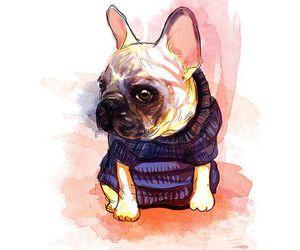 art, dog, and cute image