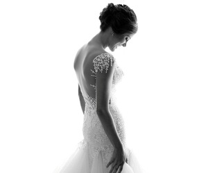 black and white, wedding, and love image