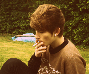 hipster, smoke, and cute image