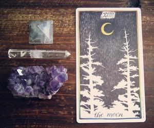 moon, crystal, and tarot image