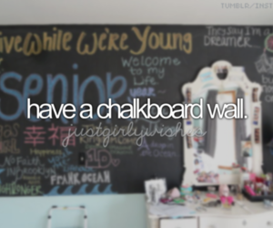bucket list, wall, and chalkboard image