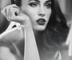 beautiful, lipstick, and black and white image