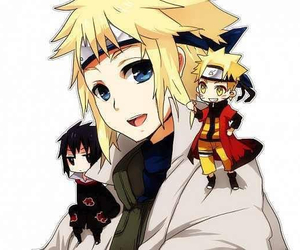 chibi, sasuke, and minato image