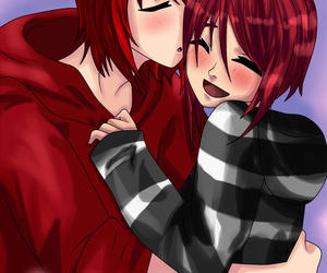 kiss, red, and castiel image