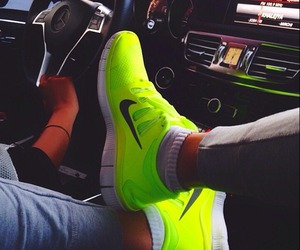 nike, shoes, and yellow image