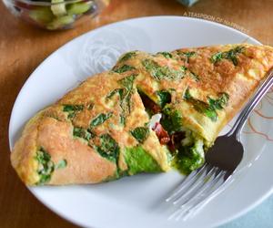breakfast, feta, and pesto image