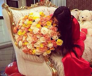 rose, girl, and luxury image
