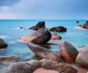 blue, nature, and rocks image