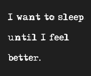 sleep, quote, and sad image