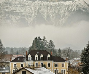 mountains, france, and winter image