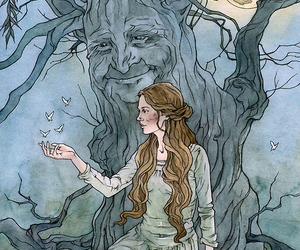 fairy, willow, and spiritual image