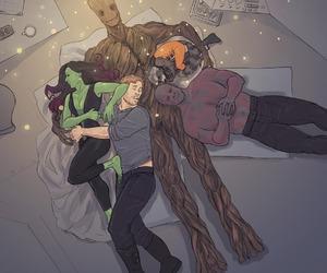 groot, gamora, and Marvel image