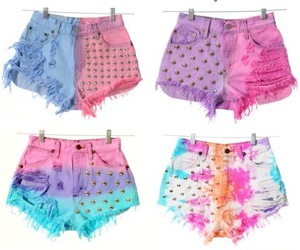 shorts, pink, and studs image