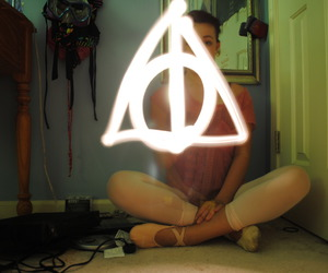 deathly hallows, girl, and harry potter image
