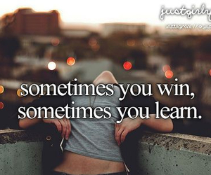 win, learn, and quote image