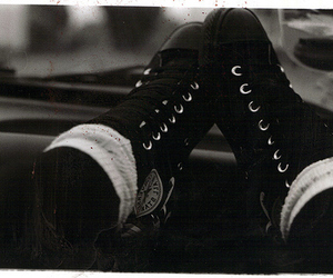 all star, black shoes, and the life image