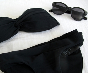 bikini, black, and fashion image