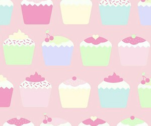 cupcake, pink, and wallpaper image