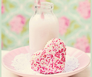 pink, milk, and heart image