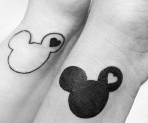 tattoo, mickey mouse, and mickey image