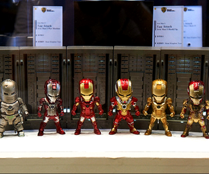 action figure, iron man, and Marvel image