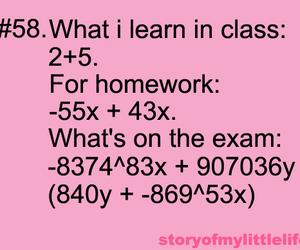 school, homework, and math image