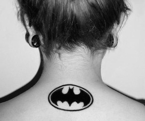 batman, tattoo, and hair image
