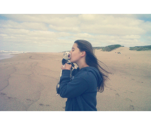 beach, ferret, and kiss image