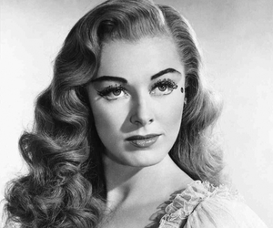 black and white, dress, and Eleanor Parker image