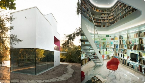 architecture, books, and design image
