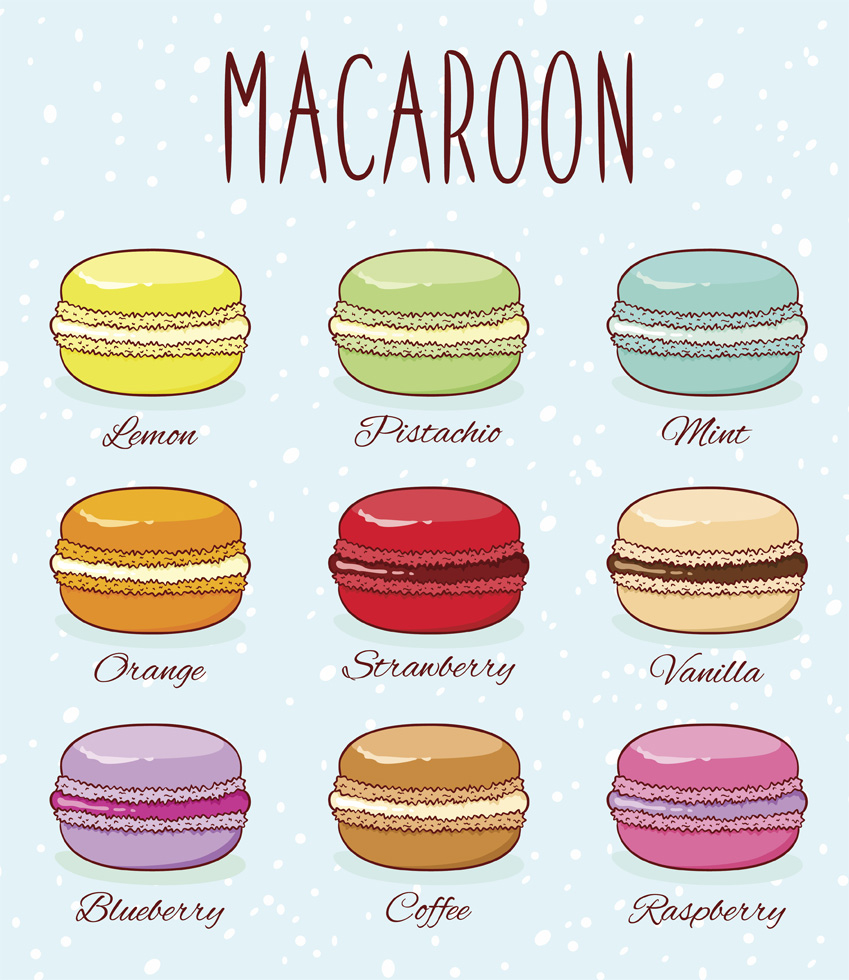macaroons, food, and yummy image
