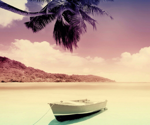 beach, boat, and summer image