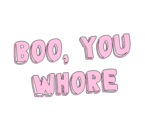 whore, pink, and boo image