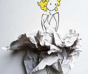 Paper, art, and dress image