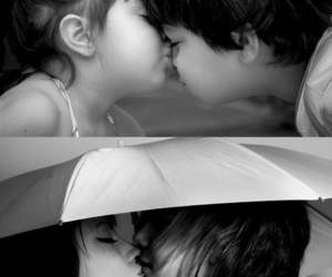 b&w, couple, and kiss image