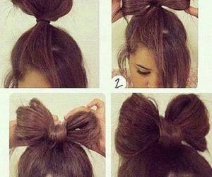 hair, bow, and diy image