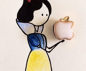 apple, princess, and disney image