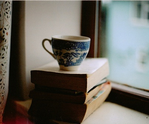 cup, book, and indie image