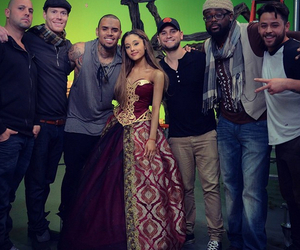 ariana grande, chris brown, and don't be gone too long image