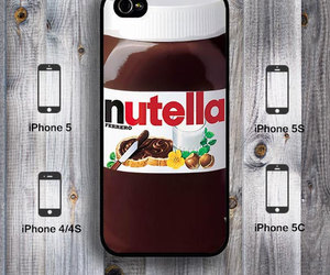 nutella, iphon, and iphon 5 image