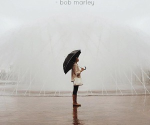 rain, bob marley, and quote image
