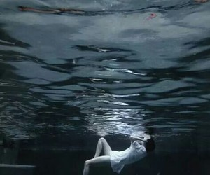 water, sea, and drown image