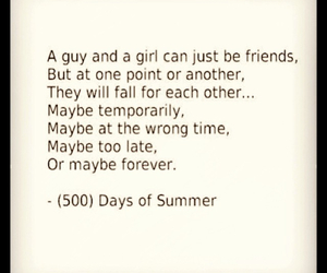 500, days of summer, and friendship image