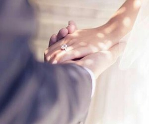 love, hands, and marriage image