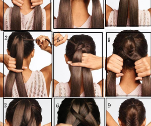 brunette, cool, and step by step image